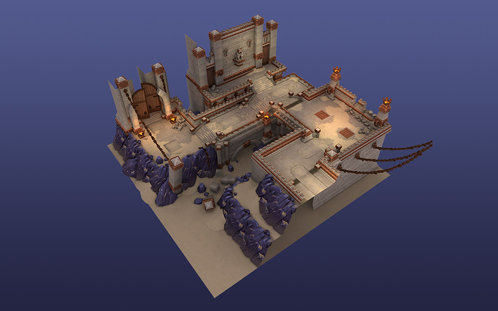 Badlands Level - Art Direction, Layout, Lighting. 3D by Paul Nelson