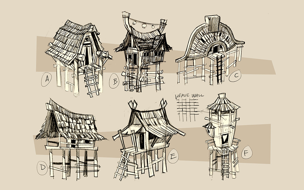 Gnoll Architecture Concept - Art Direction. Concept by Dave McNeal