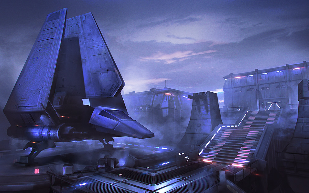 Imperial Base - Art Direction. 3D by Ziv Wong & Danny Pierce